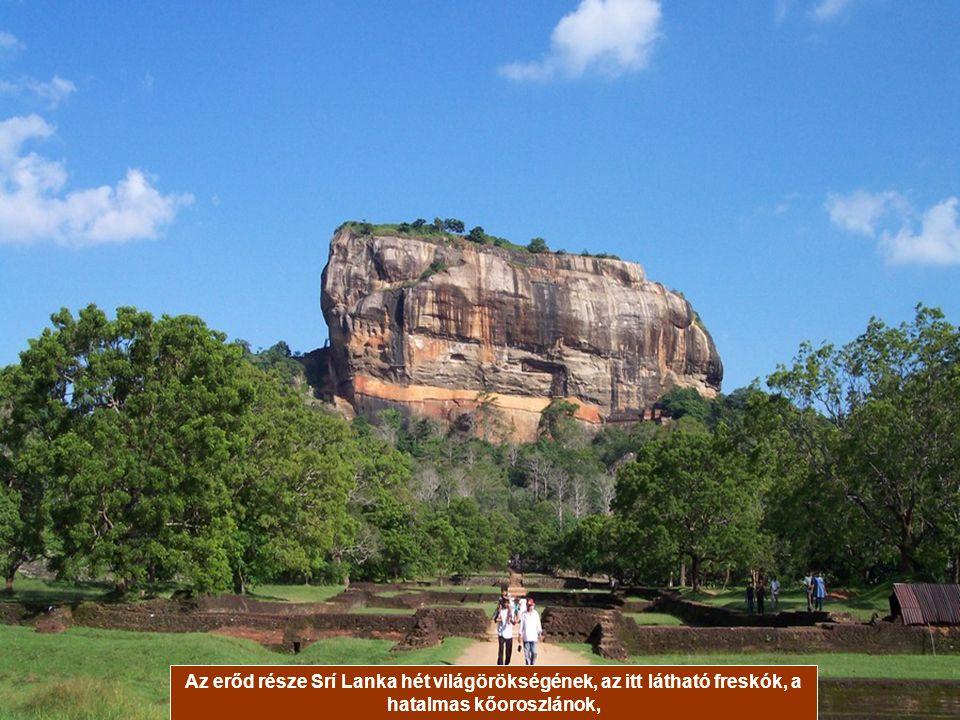 SIGIRIYA, SRÍ LANKA A Sigiriya erőd egy kétszáz méter magas szikla tetejére épült még I. Kassapa király uralkodása alatt az V. században.