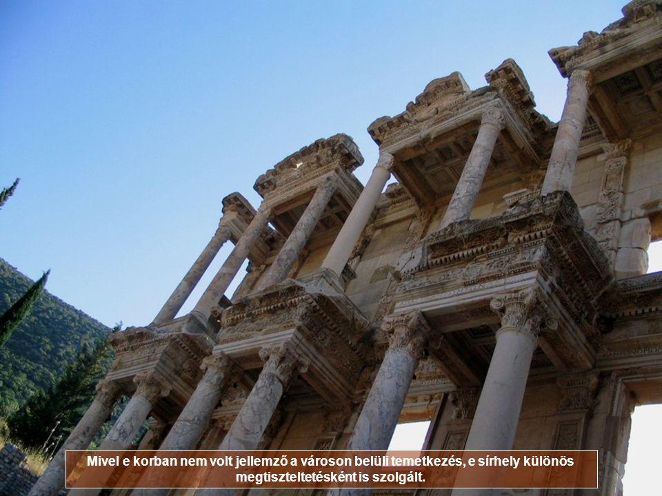 CELSUS KÖNYVTÁRA, TÖRÖKORSZÁG Celsus konzul és Ázsia kormányzója volt, akinek tiszteletére fia (aki szintén kormányzó volt, apját követve i.e. 110-től