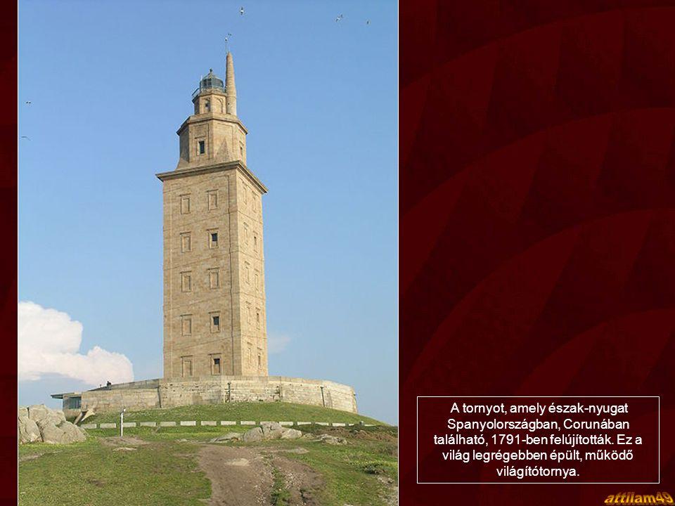 HERKULES TORNYA, SPANYOLORSZÁG Herkules tornya egy máig működésben lévő világítótorony, melyet még a rómaiak építettek 1900 évvel ezelőtt.