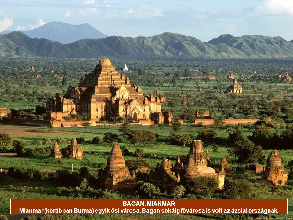 BAGAN, MIANMAR Mianmar (korábban Burma) egyik ősi városa, Bagan sokáig fővárosa is volt az ázsiai országnak.