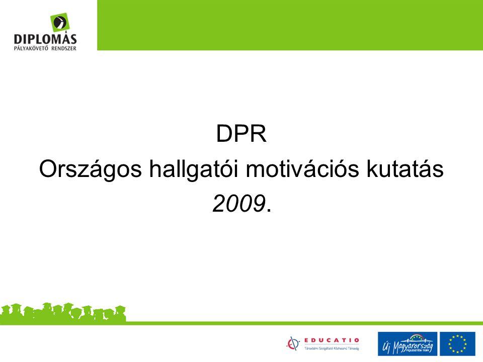 DPR Országos hallgatói motivációs kutatás 2009.