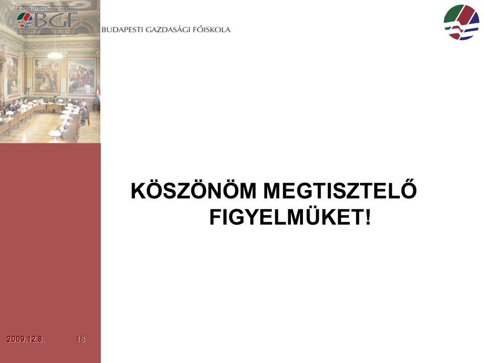 2009.12.8.18 KÖSZÖNÖM MEGTISZTELŐ FIGYELMÜKET!