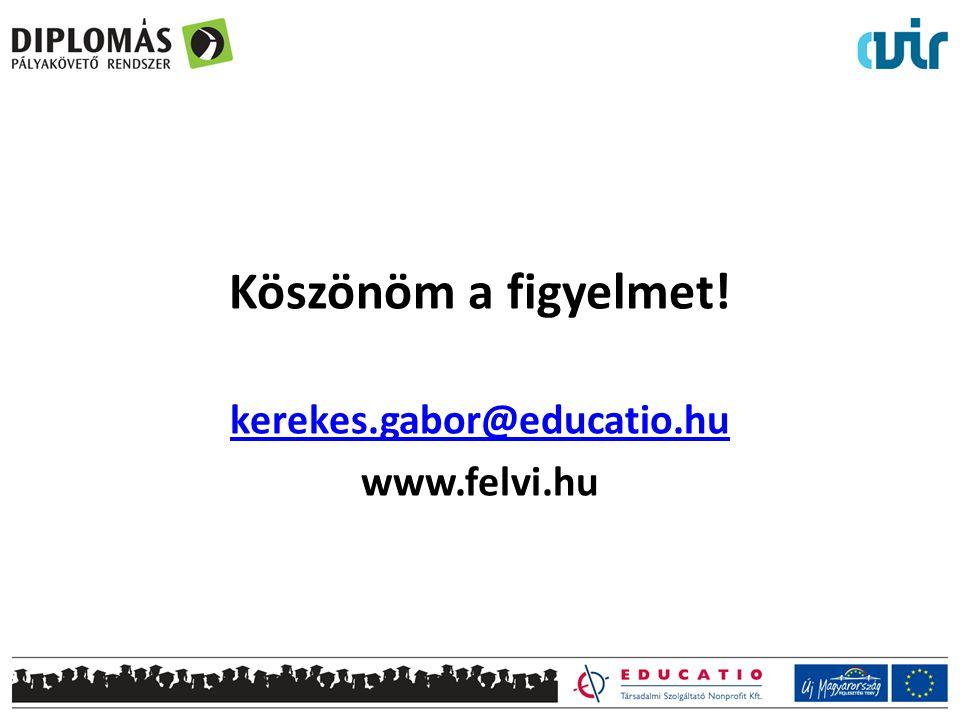 Köszönöm a figyelmet! kerekes.gabor@educatio.hu www.felvi.hu