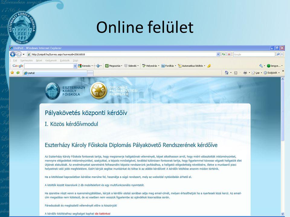 Online felület