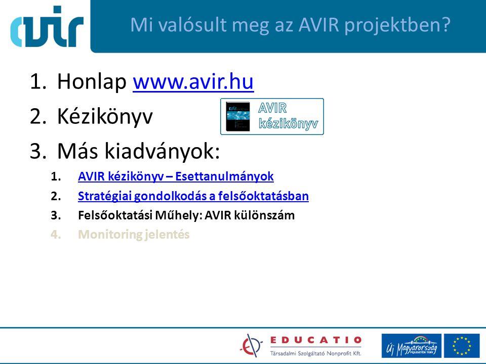 Mi valósult meg az AVIR projektben.