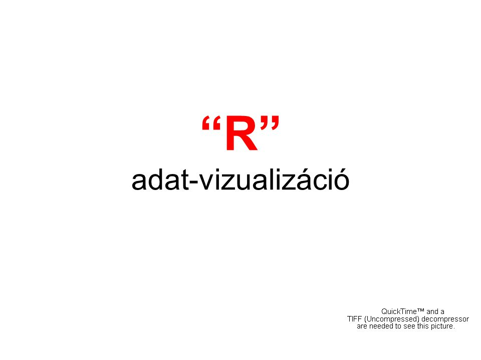 """R"" adat-vizualizáció"