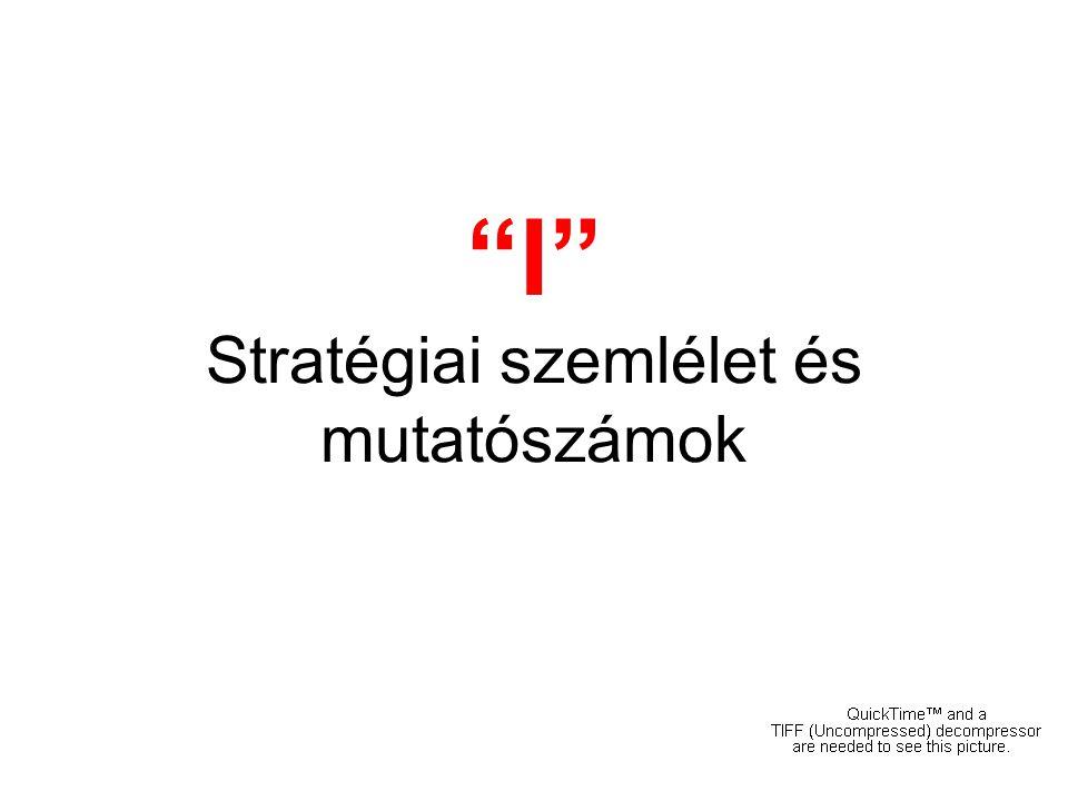 """""""I"""" Stratégiai szemlélet és mutatószámok"""