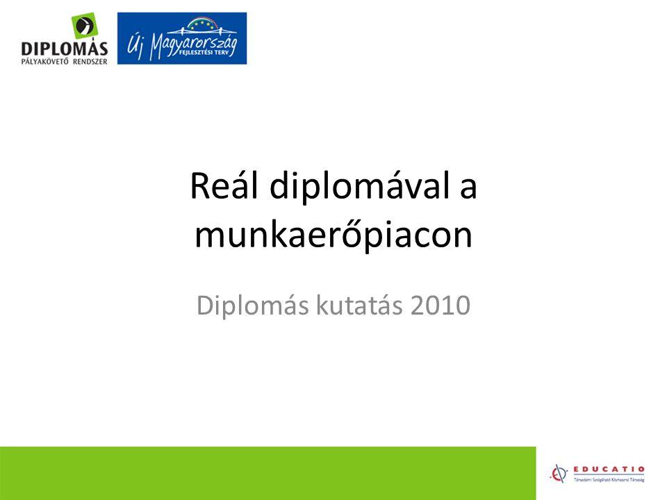 Reál diplomával a munkaerőpiacon Diplomás kutatás 2010