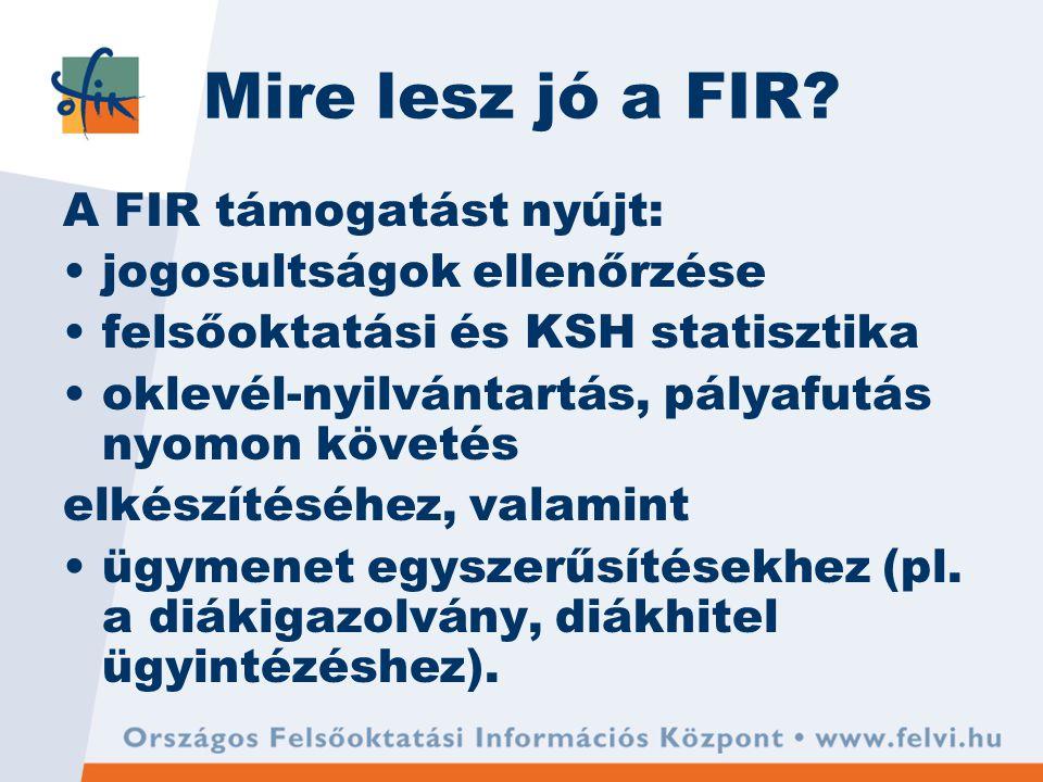Mire lesz jó a FIR.