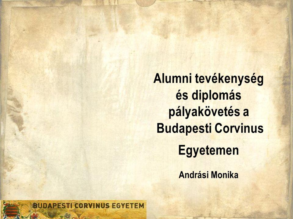 Alumni tevékenység és diplomás pályakövetés a Budapesti Corvinus Egyetemen Andrási Monika