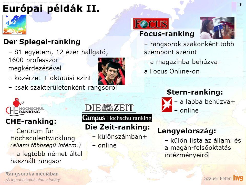 Európai példák II. Szauer Péter 3.