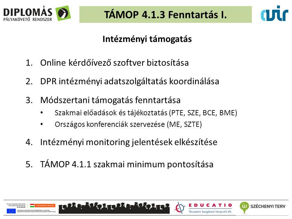 TÁMOP 4.1.3 Fenntartás I.