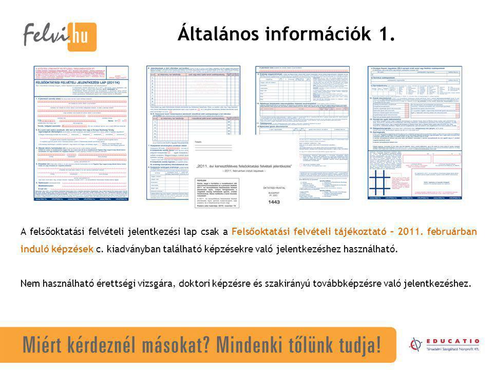 Általános információk 1.