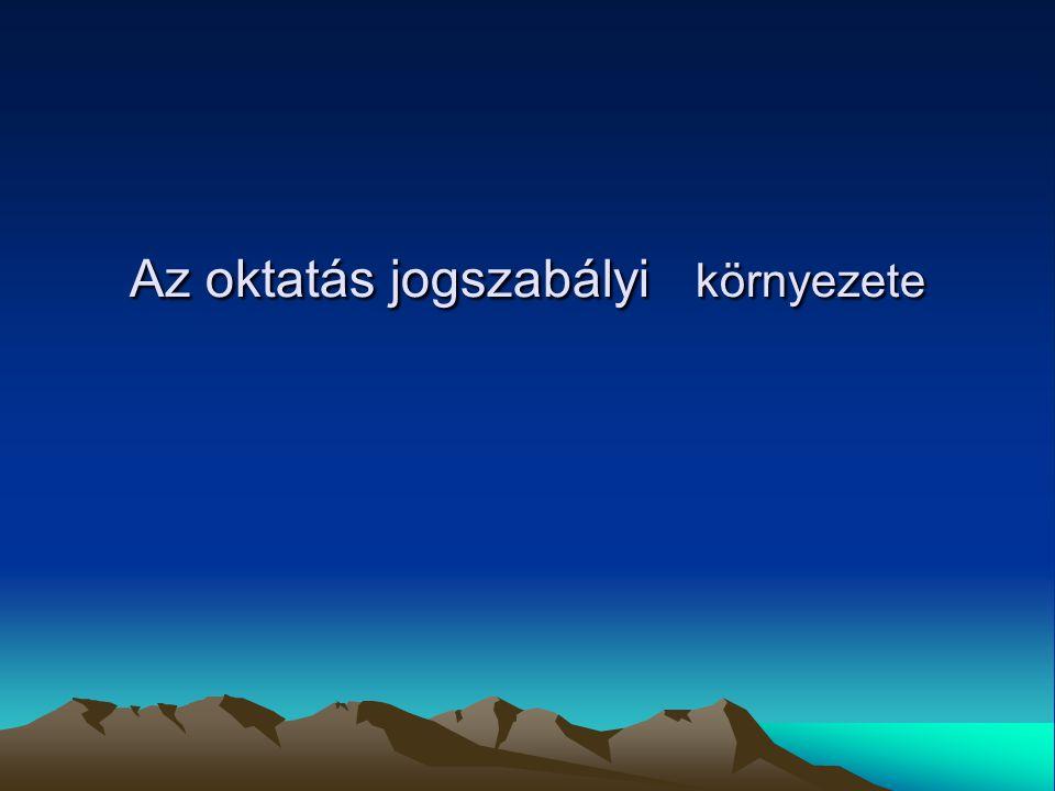23 Az Alkotmány A Magyar Köztársaság alaptörvénye a többször módosított 1949.évi XX.