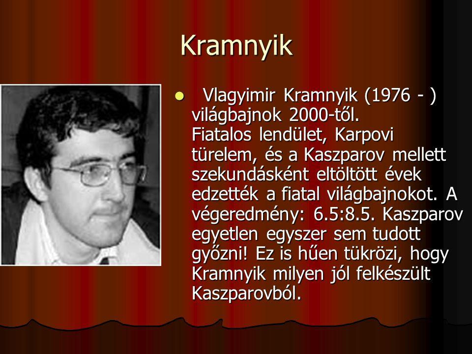 Kramnyik Vlagyimir Kramnyik (1976 - ) világbajnok 2000-től.