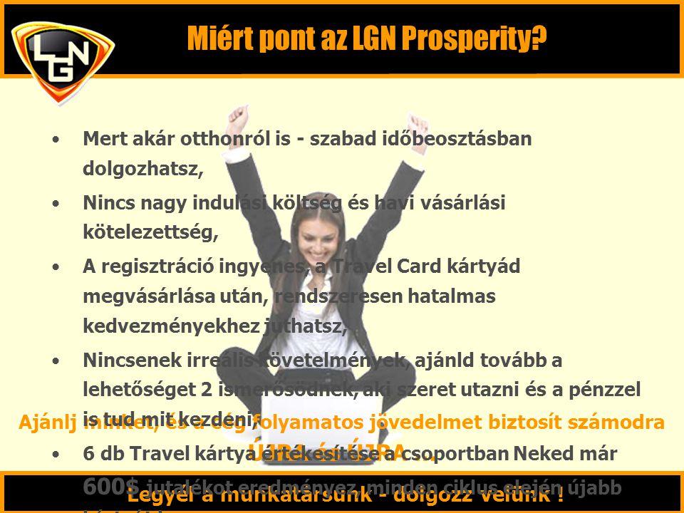 Miért pont az LGN Prosperity? Legyél a munkatársunk - dolgozz velünk ! Ajánlj minket, és a cég folyamatos jövedelmet biztosít számodra ÚJRA és ÚJRA …