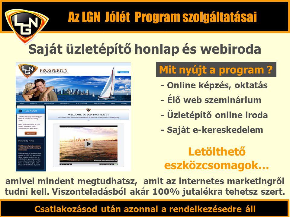 Saját üzletépítő honlap és webiroda - Online képzés, oktatás - Élő web szeminárium - Üzletépítő online iroda - Saját e-kereskedelem Letölthető eszközc
