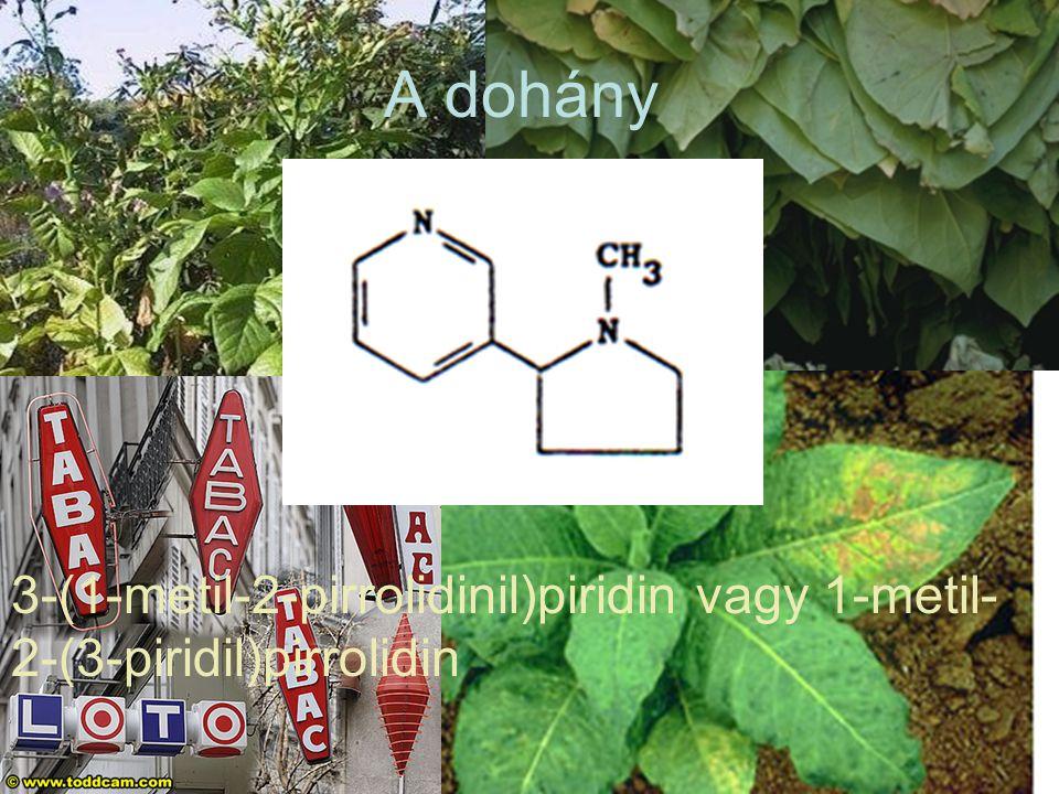 A dohány 3-(1-metil-2-pirrolidinil)piridin vagy 1-metil- 2-(3-piridil)pirrolidin