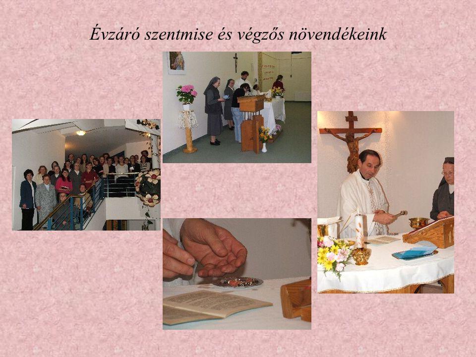 Évzáró szentmise és végzős növendékeink
