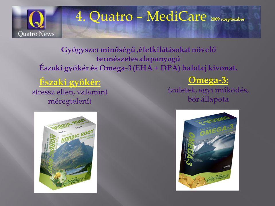 Gyógyszer minőségű,életkilátásokat növelő természetes alapanyagú Északi gyökér és Omega-3 (EHA + DPA) halolaj kivonat.