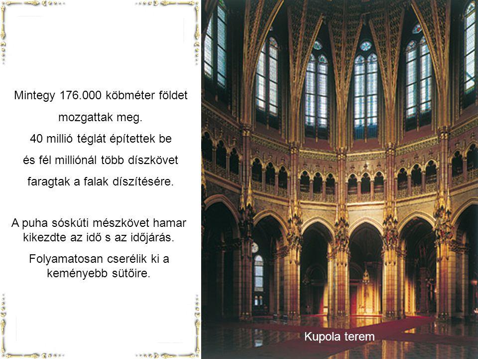Lehetőség szerint minden részletét magyar anyagból, magyar technikával, magyar mesterekkel akarták elkészíttetni. Egész ipar ágakat lendített fel: ( p
