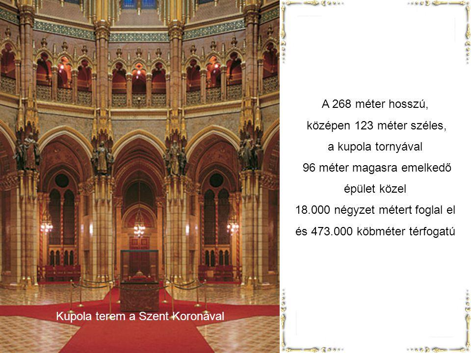 Kupola terem Mintegy 176.000 köbméter földet mozgattak meg. 40 millió téglát építettek be és fél milliónál több díszkövet faragtak a falak díszítésére