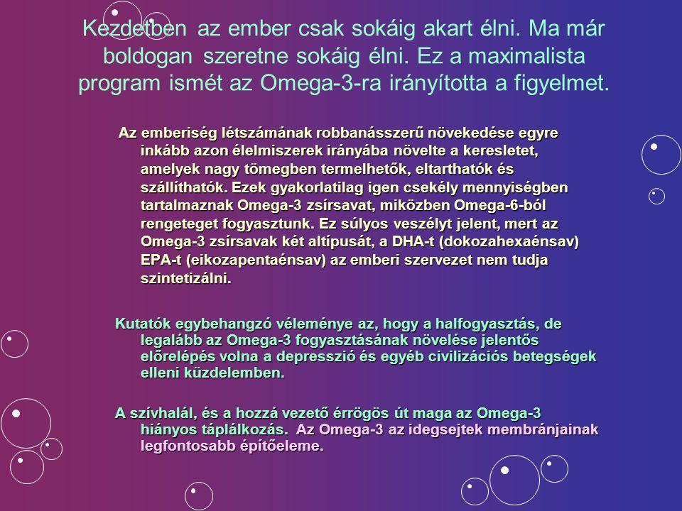 Ha úgy véli Önnek is segítségére lehet az OMEGA3..