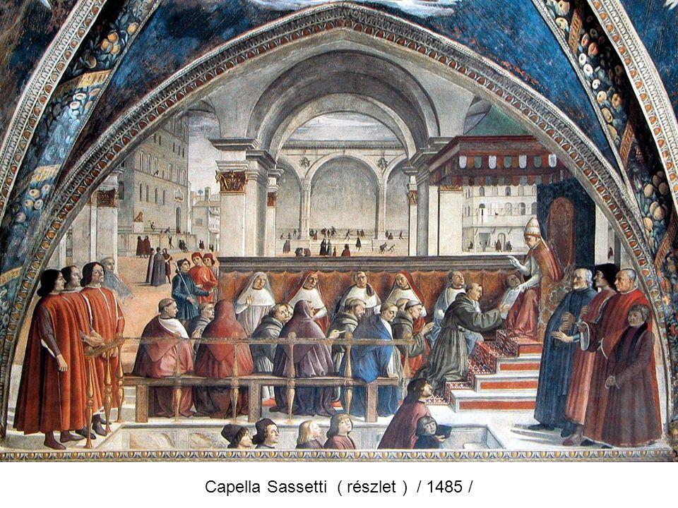 Mária születése ( fresko ) 1486 - 90 Az utolsó vacsora / 1488 /