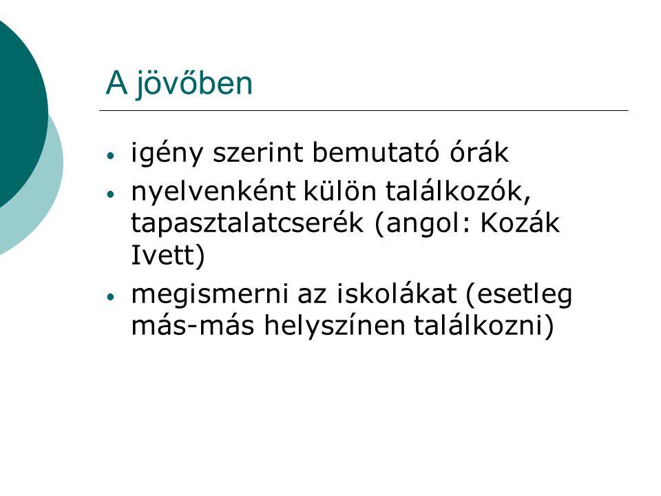 Munkaterv 2009/2010.(Tervezet) Foglalkozások 1.