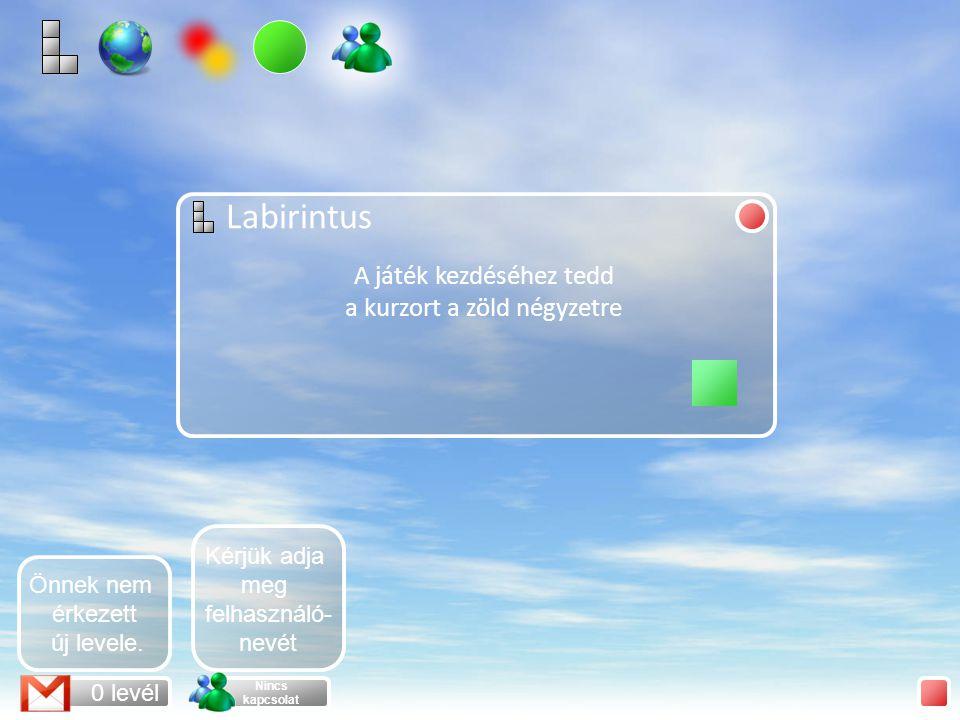 Labirintus Mehet A Labirintus egy olyan játék, amelyben egy adott pályán kell végigmenni úgy, hogy az egér ne ütközzön a falnak.