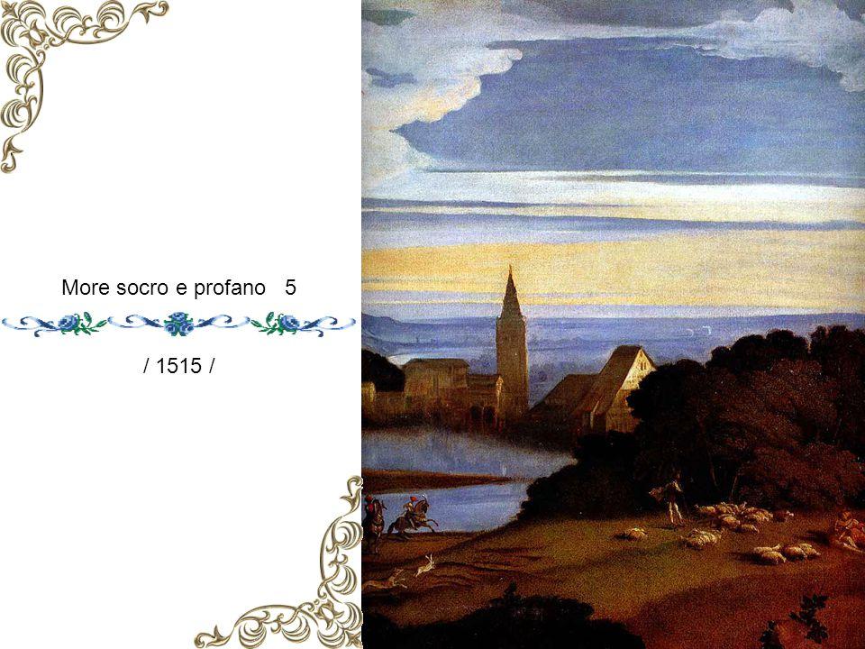 Amore socro e profano 4. / 1515 /