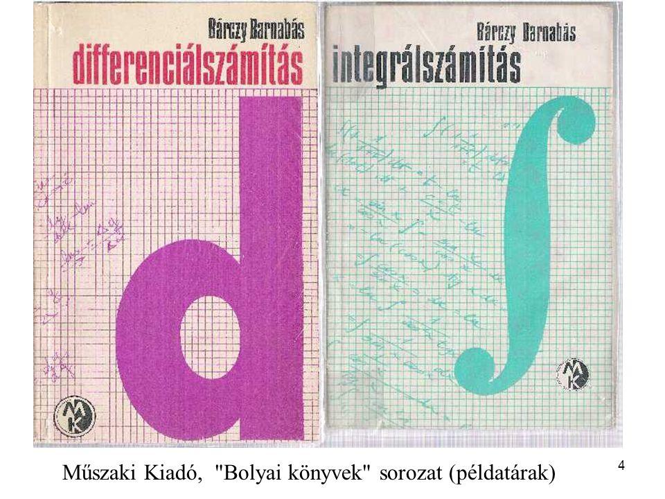 4 Műszaki Kiadó, Bolyai könyvek sorozat (példatárak)
