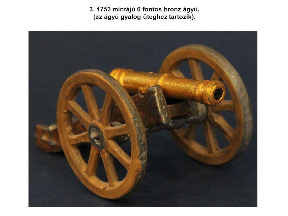 Az ágyú méretét az általa kilőhető legnagyobb vasgolyó súlyában adták meg, a tarackét a kilőhető legnagyobb kőgolyó méretével határozták meg.