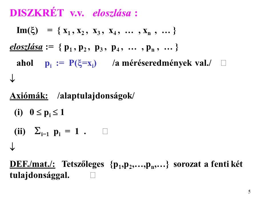 6 FOLYTONOS v.v. eloszlása : ábra: f(x)