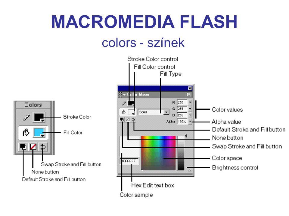 MACROMEDIA FLASH colors - színek