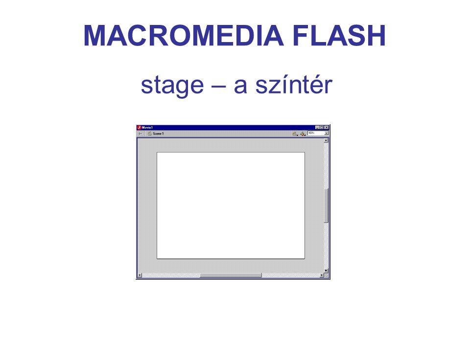MACROMEDIA FLASH timeline – az időegyenes