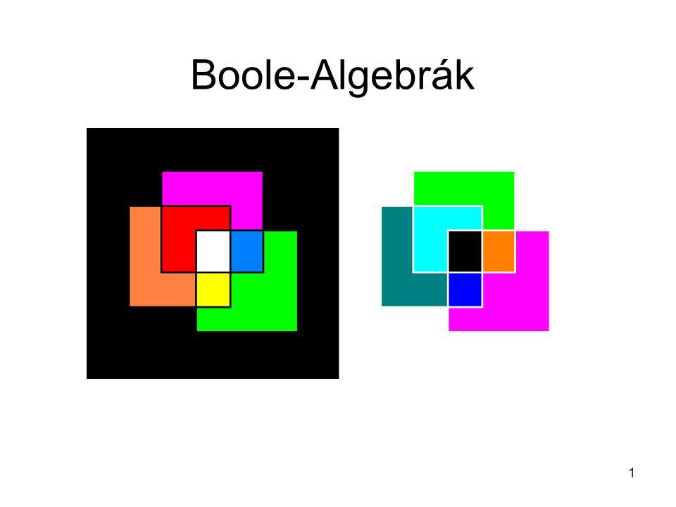 1 Boole-Algebrák