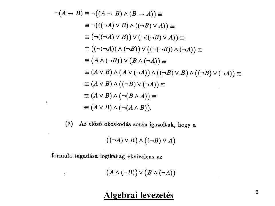 9 Formula kiértékelése igazságtáblázattal