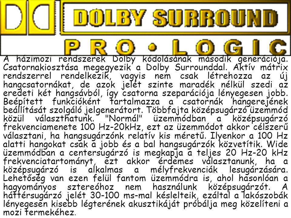 A házimozi rendszerek Dolby kódolásának második generációja. Csatornakiosztása megegyezik a Dolby Surrounddal. Aktív mátrix rendszerrel rendelkezik, v