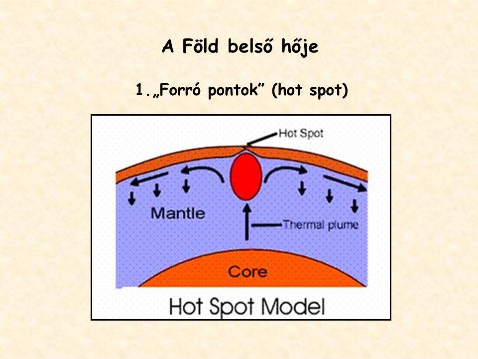 """A Föld belső hője 1.""""Forró pontok (hot spot)"""