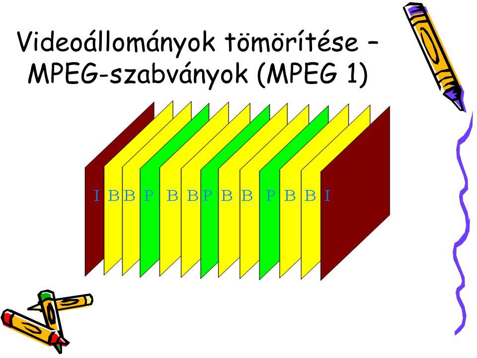 Videoállományok tömörítése – MPEG-szabványok (MPEG 1)