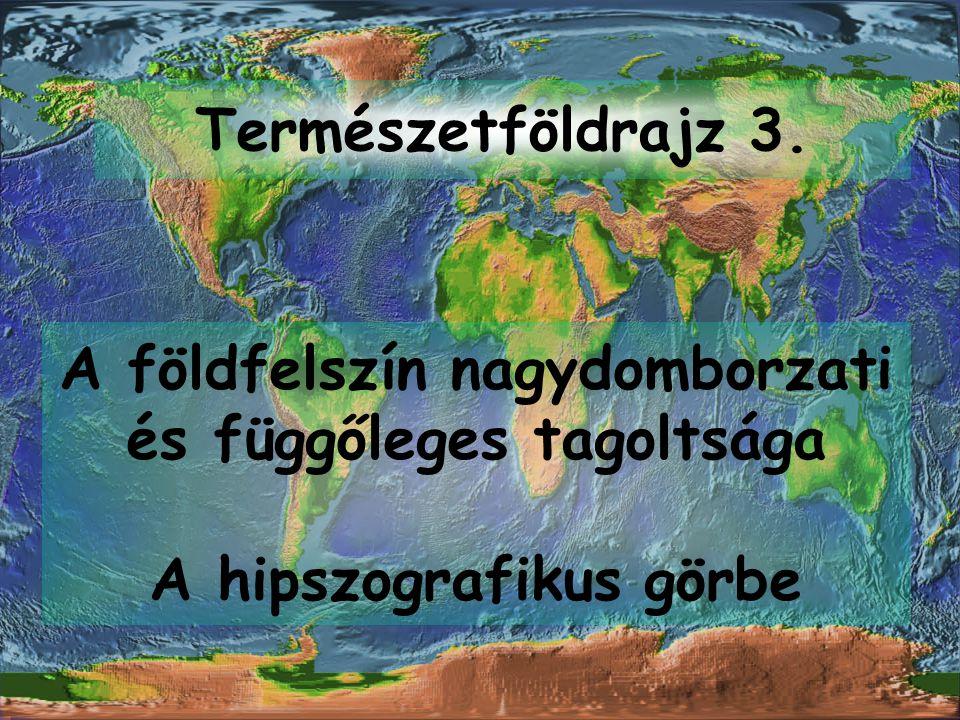 A földfelszín jellegzetes magassági szinttartományai 1.) a litoszféra lemez típusával (kontinentális, óceáni) és 2.) relatív helyzetükkel (lemezbelső, lemezhatár) vannak genetikai kapcsolatban.