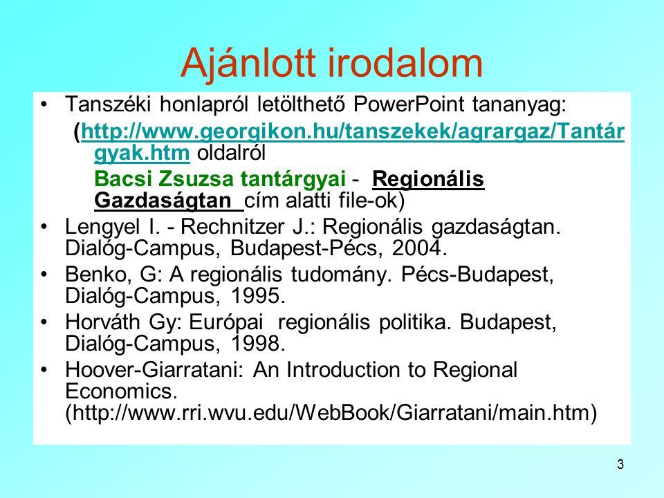 3 Ajánlott irodalom Tanszéki honlapról letölthető PowerPoint tananyag: (http://www.georgikon.hu/tanszekek/agrargaz/Tantár gyak.htm oldalrólhttp://www.