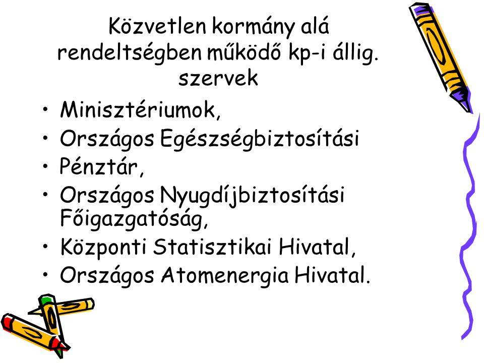 Országos főhatóságok OHSZ.