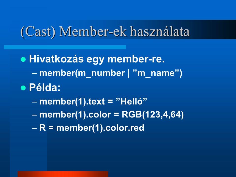 (Cast) Member-ek használata Hivatkozás egy member-re.