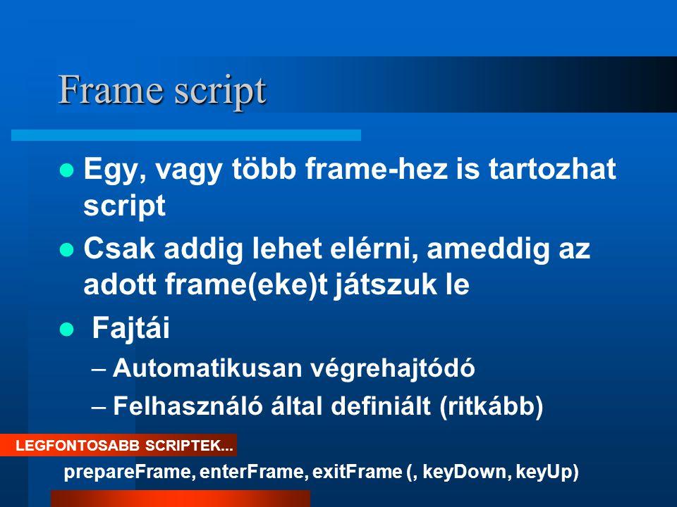 Mikor használjunk Frame scriptet .