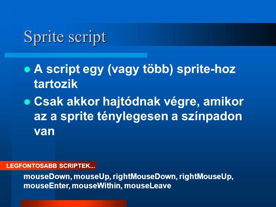 Mikor használjunk Sprite scriptet .