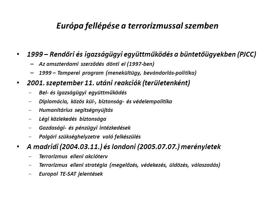 Európa fellépése a terrorizmussal szemben 1999 – Rendőri és igazságügyi együttműködés a büntetőügyekben (PJCC) – Az amszterdami szerződés dönti el (19