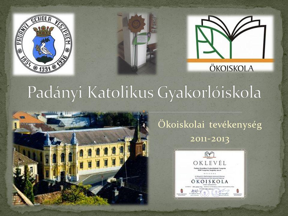 Ökoiskolai tevékenység 2011-2013