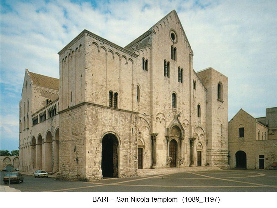 BARI – San Nicola templom (1089_1197)